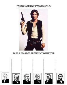 tear off flyer bearded presidents
