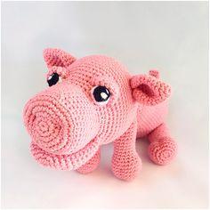Pig amigurumi PDF crochet pattern amigurumi pdf tutorail in Dutch, Deutsch and English US-terms