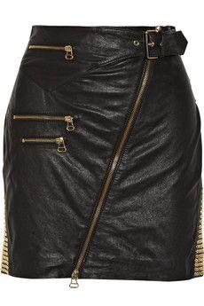 Pierre Balmain Studded leather skirt | THE OUTNET