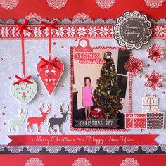 layout-north pole-adriana bolzon Christmas Scrapbook Layouts, Scrapbooking Layouts, Christmas Layout, Merry Christmas Darling, Christmas Crafts, Christmas Ornaments, Xmas, Triangle Template, North Pole