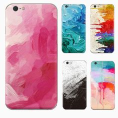 Graffiti oil painting color design Case For Apple Iphone 7 Case Silicone Soft Tpu Cover For Iphone 6 6s Cover