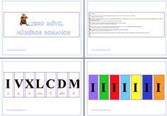 El libro móvil de los números romanos editable