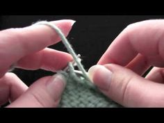"""KNITFreedom - How To Do Short Row Shaping And The """"Wrap and Turn"""" - YouTube"""