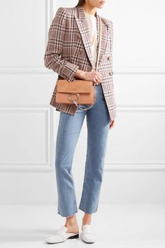 Chloé | Faye small leather and suede shoulder bag | NET-A-PORTER.COM