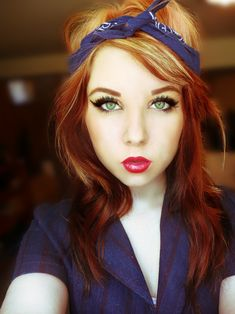 Stunning Makeup!! :: Pin Up Girl Makeup:: Retro:: Vintage Makeup:: Rockabilly I'm totally going to do this :0 -jh