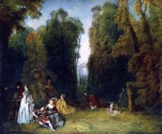 The Perspective  Jean-Antoine Watteau - circa 1718
