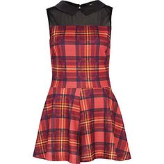 red check playsuit - playsuits - playsuits / jumpsuits - women - River Island
