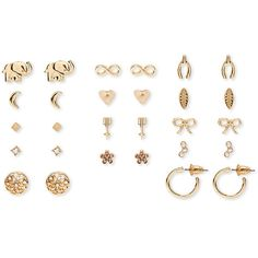 Forever 21 Infinity Stud Set ($7.90) ❤ liked on Polyvore featuring jewelry, earrings, post earrings, infinity earrings, elephant earrings, infinity stud earrings and womens jewellery