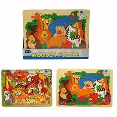 This lovely and brightly coloured jigsaw puzzles stars a fair few friendly animals to help entertain your little ones, and to teach them a little bit about the many wonderful Animal Puzzle, Wooden Animals, 3rd Baby, Wooden Puzzles, Baby Shop, Baby Toys, Little Ones, Daisy, Beautiful
