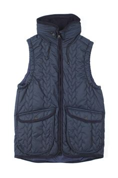 Blue Button Shop - Cable Quilting Insulation Vest (Navy) - MIN13WOUTMNAV101016