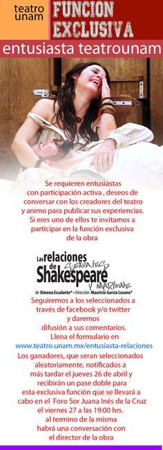 Las Relaciones Sexuales de Shakespeare y Marlowe un alucinante texto de Ximena Escalante  con Ilse Salas, Luis Gerardo Mendez, Juan Cabello, Aurora Gil y más.