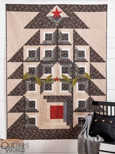 This project is featured in Autumn 2020 Quilter's World magazine. Star Blocks, Rail Fence, Modern Farmhouse Style, Negative Space, Windmill, All Design, Autumn, Magazine