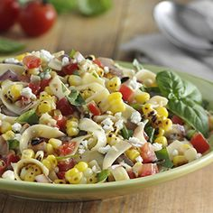 Summer Vegetable Pasta Salad HealthyAperture.com