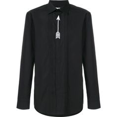 Givenchy embroidered arrow shirt (€695) ❤ liked on Polyvore featuring men's fashion, men's clothing, men's shirts, men's dress shirts, black, mens embroidered shirts, mens long sleeve dress shirts, mens dress shirts, mens extra long sleeve shirts and mens long sleeve cotton shirts