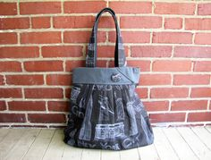 NYC Landmark Bag - Black & Gray