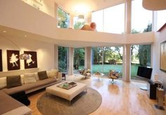 Resultado de imagen para salas modernas con ventanales