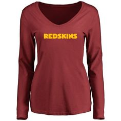 Women s Washington Redskins Design Your Own Long Sleeve V-Neck T-Shirt -   34.99 8fe6d85e9