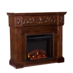 Wellington Espresso Electric Fireplace - Overstock™ Shopping - Great Deals on Upton Home Indoor Fireplaces