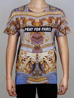 Pray for Paris golden pillars t-shirt