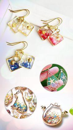 UV resin four leaf clover pendant - New Ideas # Pendant # . - UV resin four leaf clover pendant – New Ideas leaf # four-leaf UV resin - Diy Resin Necklaces, Resin Jewelry Tutorial, Diy Jewelry Tutorials, Diy Jewelry Unique, Diy Jewelry To Sell, Resin Jewelry Making, Resin Jewellery, Jewelry Box, Jewelery