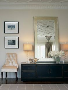 A mirror like this might look nice if we do end up moving the buffet into the family room...