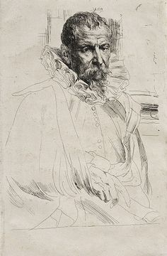Anthony van Dyck, Portrait of Pieter Brueghel the Younger