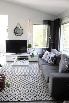 Uudistunut olohuone - nyt musta on pop!