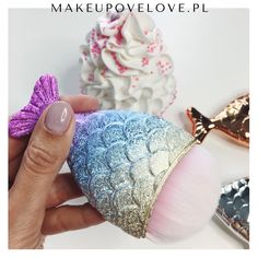 Mermaid Pędzelek do makijażu syrenka - rybka #makeupovelove #mermaid #syrenka #pędzelek #makeupbrushes #kosmetyki