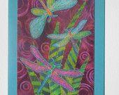 Dragonfly Birthday Card Mom Friend Him Her Housewarm ThankYou Wedding Kitchen Bath Frame Gift 5x7 BUY 5 CARDS get 6th one FREE dragonfly 729