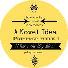 A Novel Idea: The Big Idea--writing a novel starts with figuring out your main character's situation.