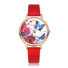 Elegant Butterfly Quartz Wristwatch