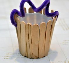 Crafting With Kids: Mini Wooden Easter Baskets...choose your own color
