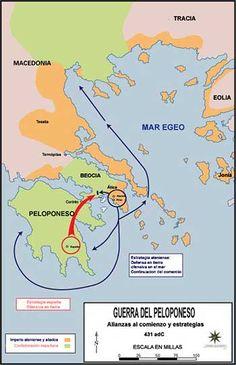 Guerra del Peloponeso I: guerra Arquidámica 431-421