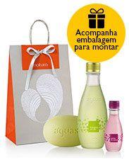 Presente Natura Águas Laranjeira em Flor - Desodorante Colônia + Sabonete em Barra + Embalagem