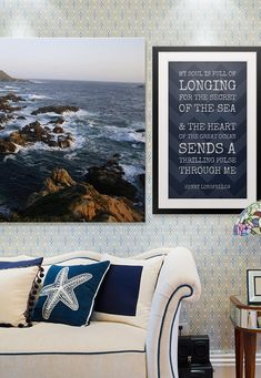 Love the calming colors and inspiring quote from Henry Wadsworth Longfellow.