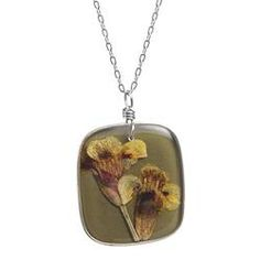 Birth Month Flower Necklace - October  $48.00