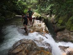 Hike through waterfalls and jungles in Colombia.
