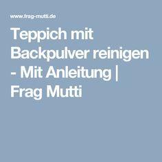 Teppich mit Backpulver reinigen - Mit Anleitung   Frag Mutti
