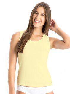 Jockey Yellow Cotton Tank Top