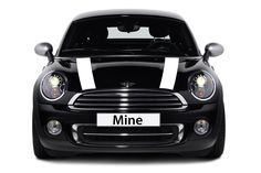 Mini Cooper and Cooper S (2002-2006) Hood Decals - Exact Fit - Single Color