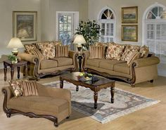 Attirant Acme Furniture   Olysseus 2 Piece Floral Fabric Sofa Set In Brown