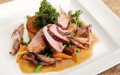 Perfect Sunday! Roast Savoch pork loin, fondant potato, baby carrots, crispy kale.