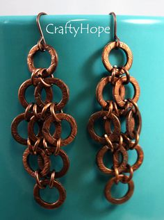 Textured Washers Earrings by CraftyHope