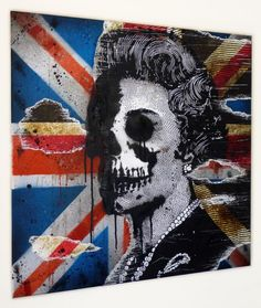 God Save The Queen 02 - Urban art for sale by Mr Pilgrim
