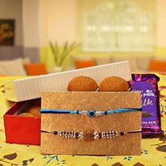 #Auspicious #Rakhi #Combo Now at http://www.rakhibazaar.com/rakhi-with-sweets-3.html