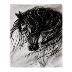 "Animal Drawings Horse Wall Art-Horse Decor of ""Mane Dance"" giclee print - Horse Drawings, Animal Drawings, Art Drawings, Animal Sketches Easy, Horse Illustration, Horse Wall Art, You Draw, Equine Art, Dance Art"
