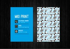 Blue Business Card Design -  will be resold - by MioPrint