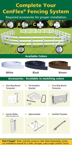 CenFlex 5 in. x 660 ft. Black Flexible Rail Horse Fence - 381053 at The Home Depot