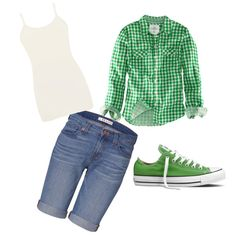 Green Chucks nice transition into fall or in early spring.