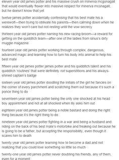 James Potter the noble bastard. The world needs more respect for James.